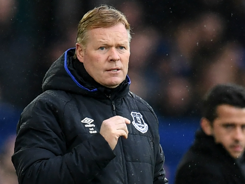 Koeman reveals Everton points target for Liverpool and Man Utd matches