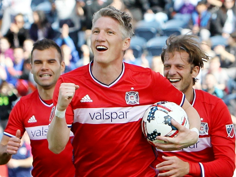 VIDEO: Schweinsteiger scores for the Chicago Fire against New England