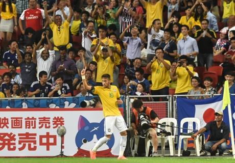 Japan 0-4 Brazil: Neymar nets four