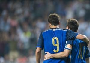 Higuaín y Messi, dos figuras de la Selección argentina.