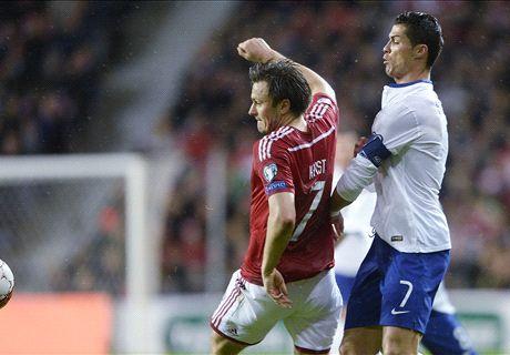 Eliminatorias: Dinamarca 0-1 Portugal