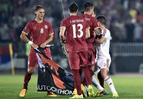 Servië zwaarst bestraft na gestaakt duel
