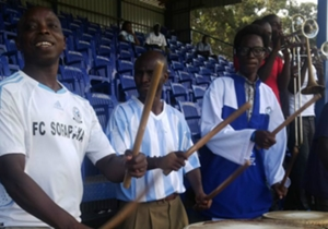 Sofapaka fans cheering on their team against Ushuru.