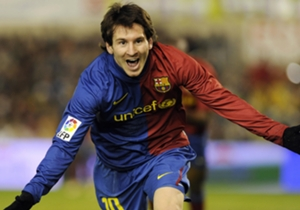 17. Messi chests the ball down and smashes home versus Racing (February 1, 2009)