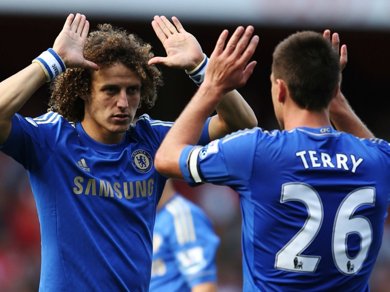 VIDEO: David Luiz smashes Chelsea team-mate Terry in the testicles