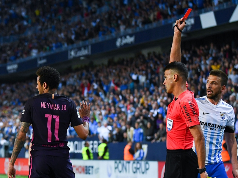 Neymar's straight red and a clear penalty - Barcelona's title hopes dashed by referee