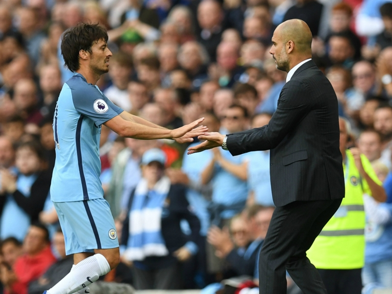 David Silva forced out of Arsenal FA Cup clash with injury and could miss Manchester derby