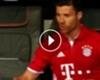 VIDEO: La airada reacción de Xabi Alonso tras el doblete de Cristiano Ronaldo