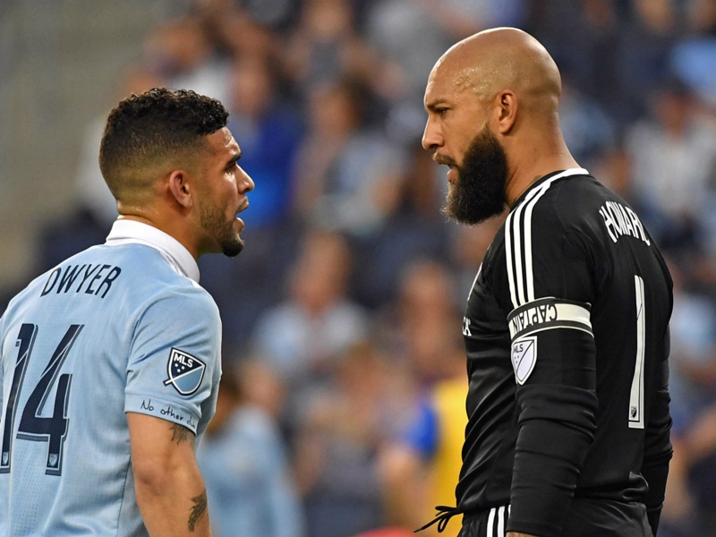 Tim Howard suspended after incident with fan