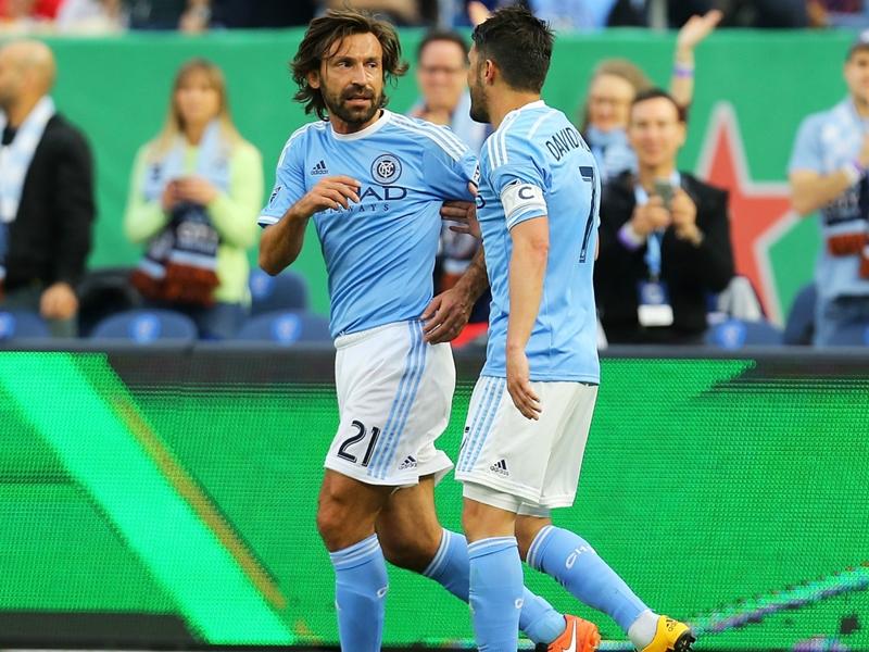 'One of the best goals I've ever seen' - Pirlo and Vieira hail David Villa wonderstrike
