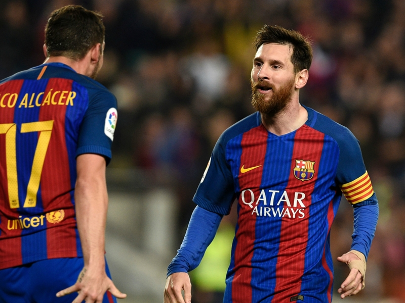 Alcacer rules out Barca exit despite competition from 'best' Messi, Suarez and Neymar