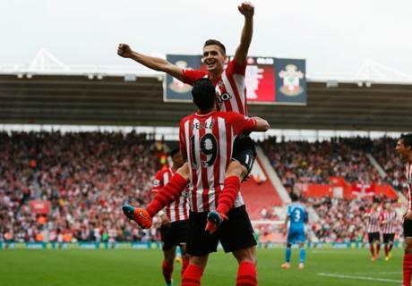Southampton goleó a Sunderland