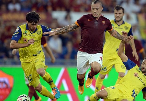 Roma 3-0 Chievo: Totti scores in routine victory