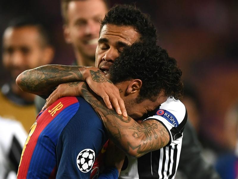 Bittersweet feeling for Dani Alves after Juve eliminate Barca