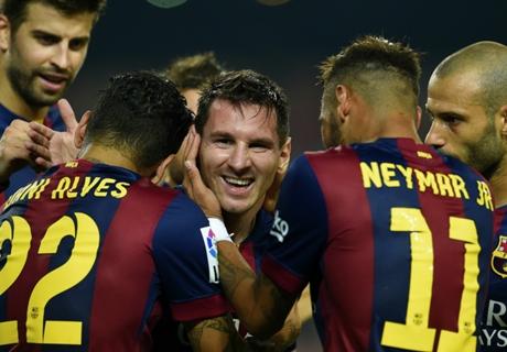 Luis Enrique shrugs off Messi snub