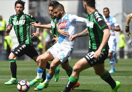 Sassuolo-Napoli LIVE! 0-1, Mertens