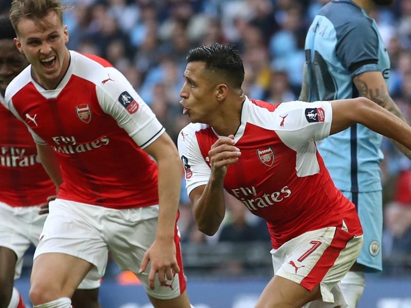 Arsenal 2 Manchester City 1 (aet): Sanchez winner sends Wenger's men into FA Cup final