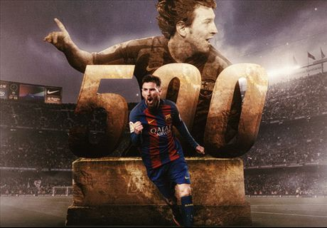 Messi scores 500th Barcelona goal