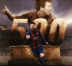 Messi scores 500th Barcelona goal