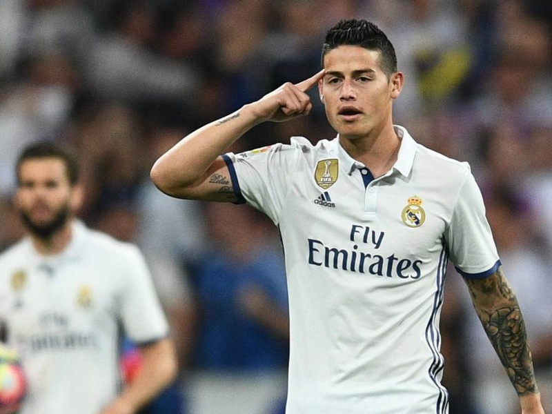 James Rodriguez veut rester au Real Madrid assure sa femme