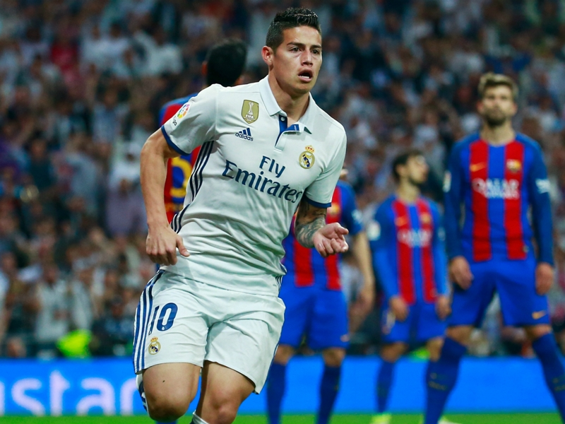 Real Madrid star James wants to stay put despite reported Premier League interest, says wife