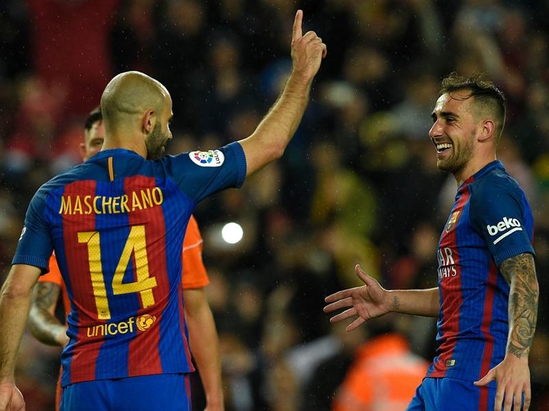Mascherano marque son premier but avec le Barça