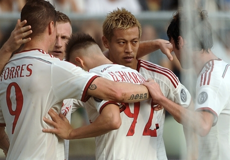Résumé de match, Hellas Vérone-Milan AC (1-3)