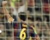 Xavi, 15 goles en 15 Ligas