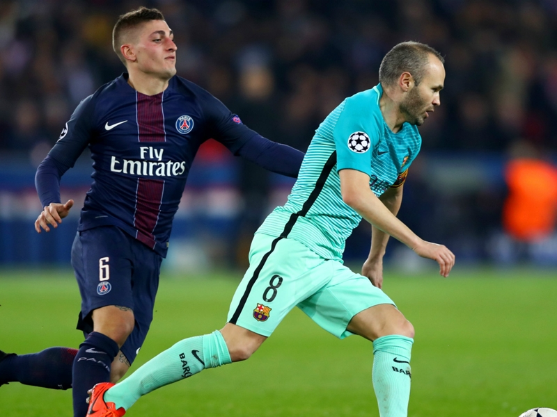 PSG's Verratti would be perfect fit at Barcelona – Garcia