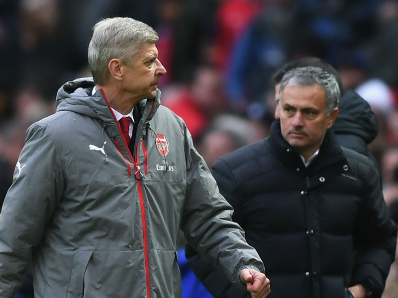 Mourinho rules out 'peace' with bitter rival Wenger ahead of Arsenal vs Man Utd