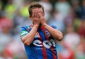 Jeronimo Neumann reacts after missing a chance to win it in injury time
