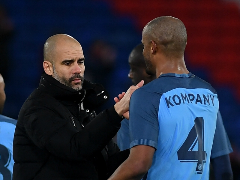Guardiola hails influence of healthy 'real central defender' Kompany