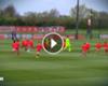 VIDEO: Reds-Duo gegen 30 Nachwuchskicker