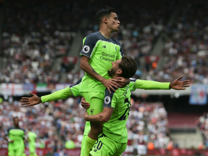 Coutinho sets new Liverpool landmark in Premier League win at West Ham