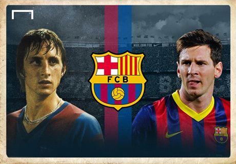 Is Cruijff of Messi Barça's grootste icoon?