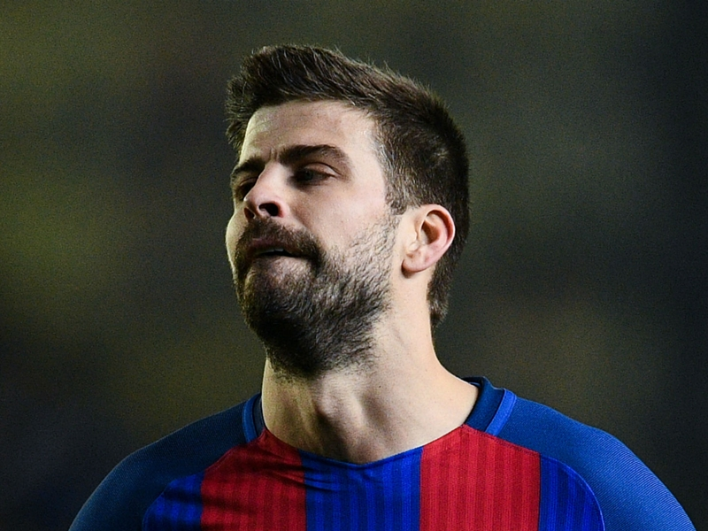 Why is Gerard Pique not playing for Barcelona?