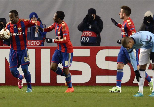 CSKA Moscow 2-2 Manchester City: Pellegrini's men throw away two-goal lead to leave Champions League hopes in tatters