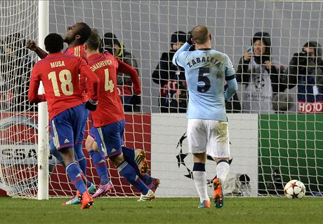 Man City caught cold in Moscow