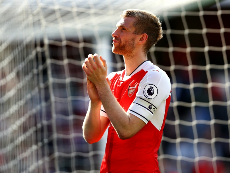 Mertesacker revels in 'special' Arsenal return at the end of an injury-hit campaign