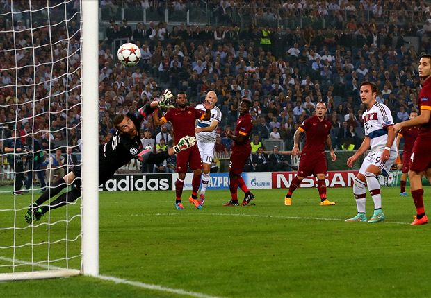 Roma 1-7 Bayern Munich: Robben rampant as Bavarians send out Champions League warning