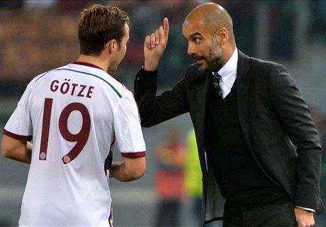 I want more from Gotze - Guardiola