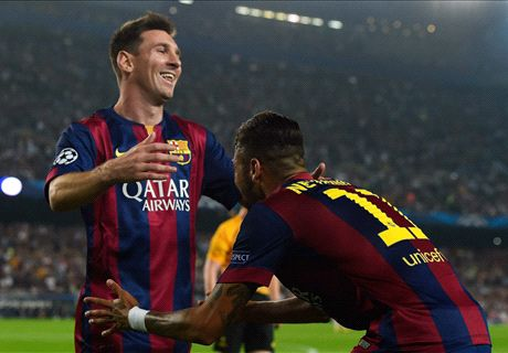 Messi: Neymar partnership improving