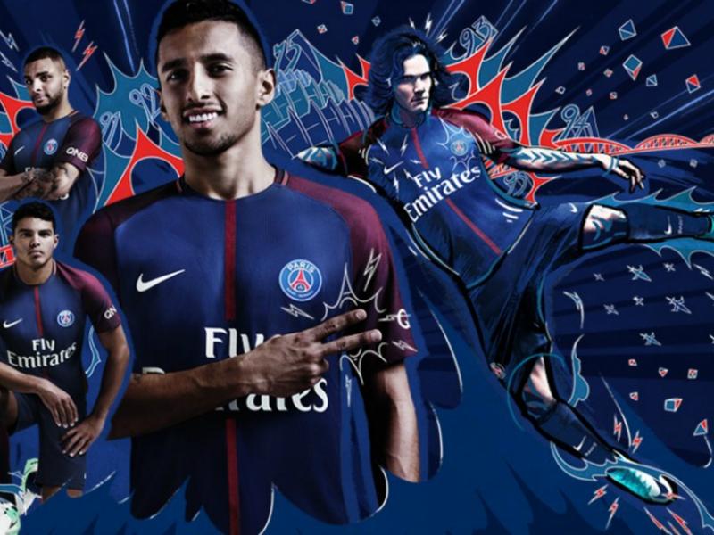 Les photos du maillot PSG domicile 2017-2018
