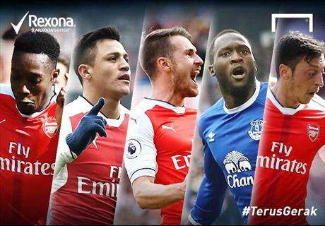 Mesut Ozil, Pemain #TerusGerak Laga Arsenal - Everton