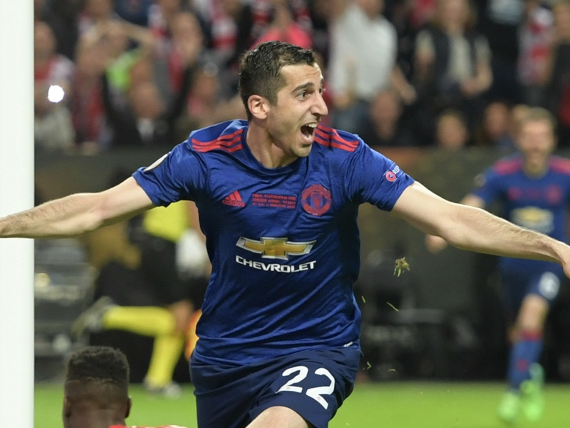 Mkhitaryan reacts to classy message from idol Djorkaeff following Europa League win