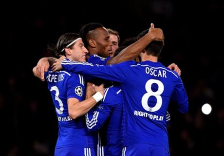 Chelsea 6-0 Maribor: Drogba on target