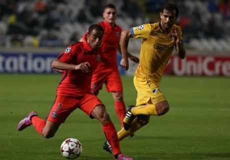 APOEL 0-1 PSG: Cavani late