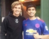 FOTO: Griezmann con un fan del United