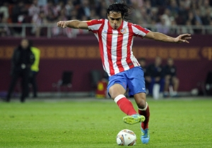 RADAMEL FALCAO | The Colombian's record in the Europa League (30 goals in 31 games) speaks for itself. He memorably fired Porto to the title in 2011 before repeating the feat with Atletico Madrid the following season, netting in both finals and finishi...