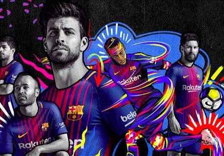 Barcelona presenteert nieuwe thuisshirt